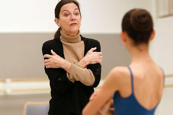 Anita Paciotti rehearse with dancers playing the role of Clara in the Nutcracker on Thursday, November 9, 2017, in San Francisco, Calif.  Anita Paciotti who has been everything from a prima ballerina to a ballet master is celebrating her 50th anniversary season with San Francisco Ballet.