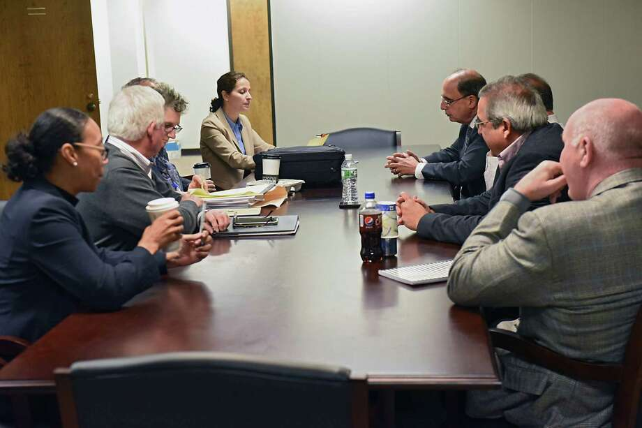Members of the state Assembly's Ethics and Guidance Committee during a meeting Nov. 21, 2017, where they later voted, behind closed doors, to recommend the sanctioning of Assemblyman Steve McLaughlin for sexual harassment. (Lori Van Buren / Times Union) Photo: Lori Van Buren, Albany Times Union / 20042185A