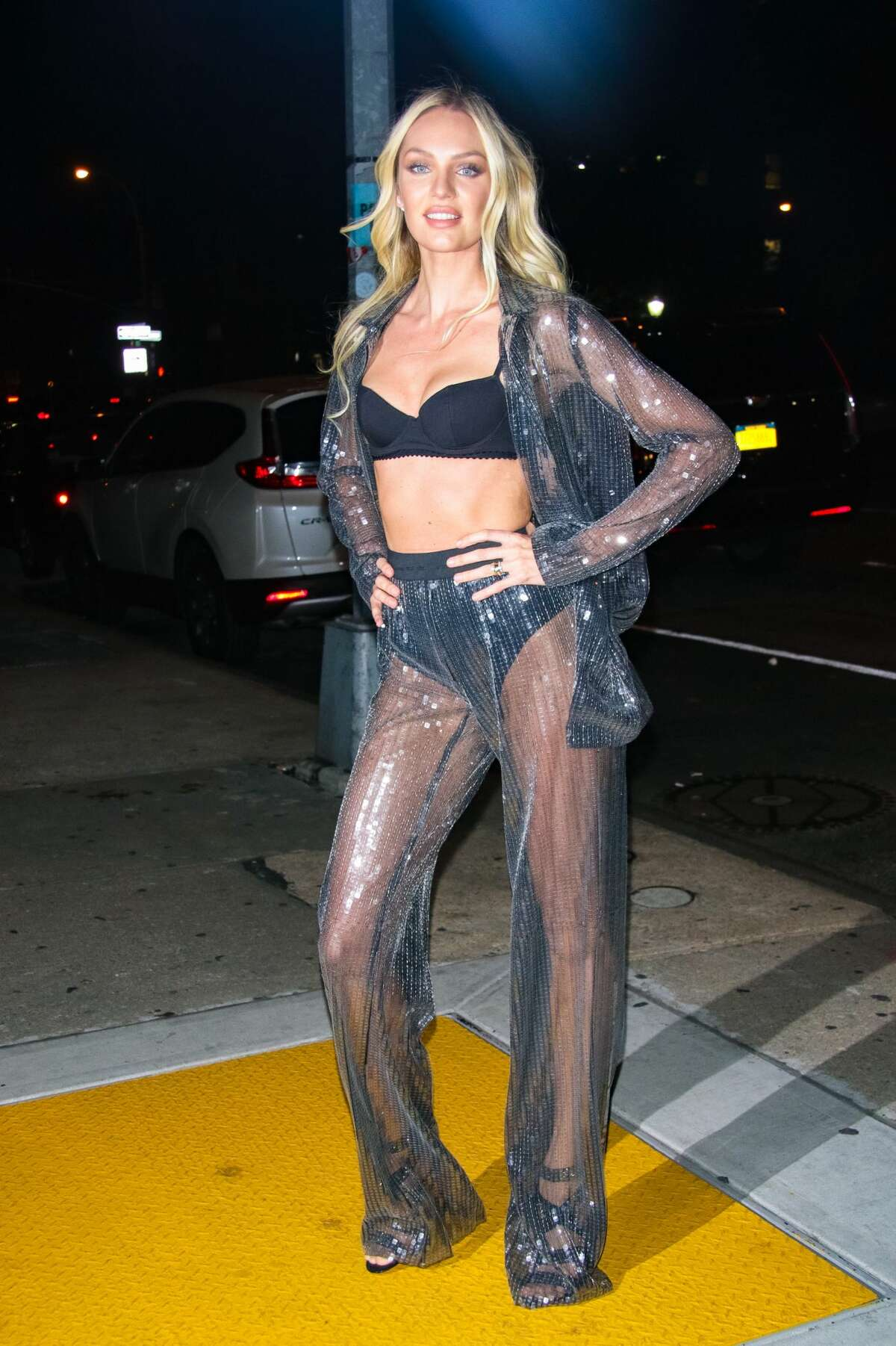 Candice Swanepoel at Victoria's Secret Viewing Party at Spring Studios on November 28, 2017 in New York City.