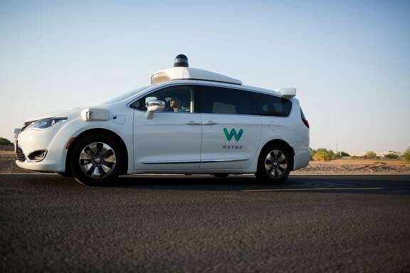 FILE � A Waymo vehicle during a demonstration in Chandler, Ariz., June 28, 2017. A federal judge on Nov. 28 delayed a highly anticipated trade secrets trial between Waymo, Alphabet�s self-driving car unit, and Uber, a day before jury selection was set to begin. (Caitlin O�Hara/The New York Times)