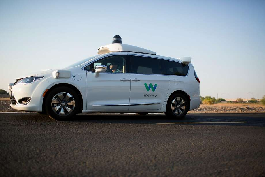 FILE � A Waymo vehicle during a demonstration in Chandler, Ariz., June 28, 2017. A federal judge on Nov. 28 delayed a highly anticipated trade secrets trial between Waymo, Alphabet�s self-driving car unit, and Uber, a day before jury selection was set to begin. (Caitlin O�Hara/The New York Times) Photo: CAITLIN O'HARA, NYT