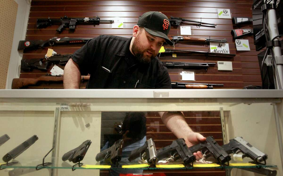 Todd Settergren of Setterarms gun shop, on Friday Jan. 13, 2017, in Walnut Creek, Ca. Settergren says California gun laws have gone too far and he welcomes the chance that the federal government under the Trump administration will ease restrictions on concealed carry permits and specific weapon bans.