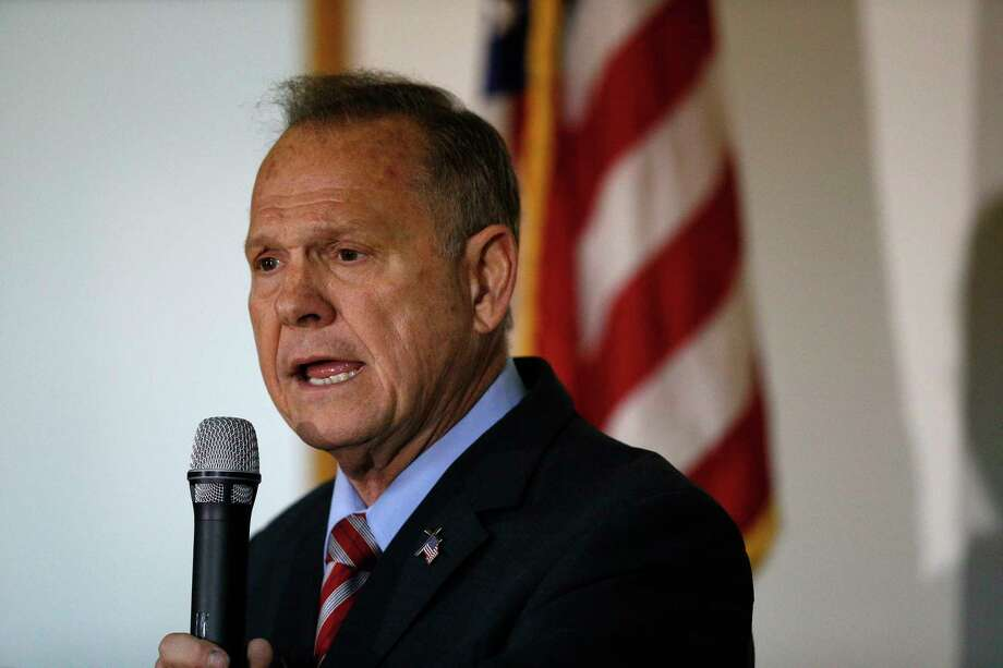 Former Alabama Chief Justice and U.S. Senate candidate Roy Moore speaks at a campaign rally, Monday, Nov. 27, 2017, in Henagar, Ala. (AP Photo/Brynn Anderson) Photo: Brynn Anderson, STF / Copyright 2017 The Associated Press. All rights reserved.