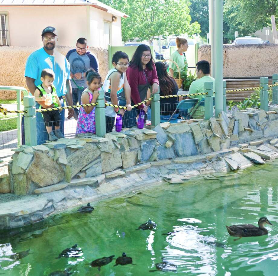 Families observe the fauna at Laredo Community College's Lamar Bruni Vergara Environmental Science Center as part of the Earth Day celebration in 2017. Photo: Laredo Morning Times File / Laredo Morning Times