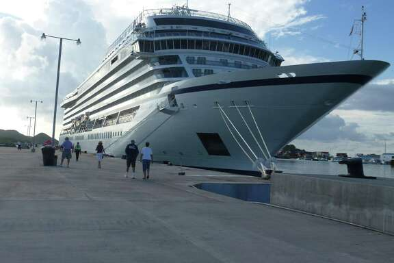 Docked in Charlotte Amalie, St. Thomas, on Nov. 5, the 930-passenger Viking Sea was the second cruise ship to visit the island since the September category 5 hurricanes.