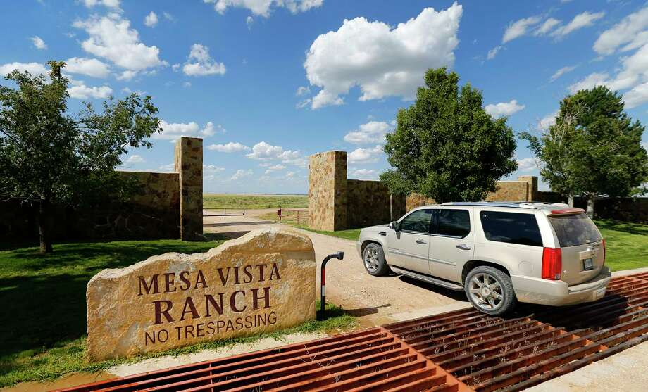 This photo taken May 30, 2017, shows businessman T. Boone Pickens entering a gate on his Mesa Vista Ranch in the panhandle of Texas near the town of Miami. Pickens wants to sell his prized ranch, covering more than 100 square miles in the Texas Panhandle, for $250 million. Pickens on Wednesday, Nov. 29, 2017, announced he's offering his Mesa Vista Ranch, about 90 miles northeast of Amarillo. Pickens in October put his Dallas mansion on the market for $5.9 million. (Tom Fox/The Dallas Morning News via AP) Photo: Tom Fox, MBR / The Dallas Morning News
