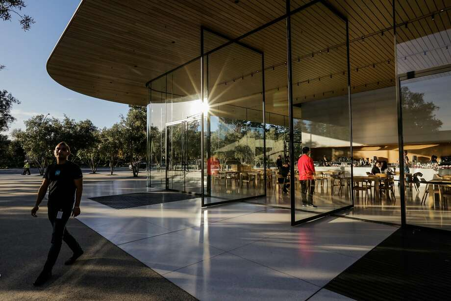 The exterior of the Apple visitors center in Cupertino, Calif. Photo: Gabrielle Lurie, The Chronicle