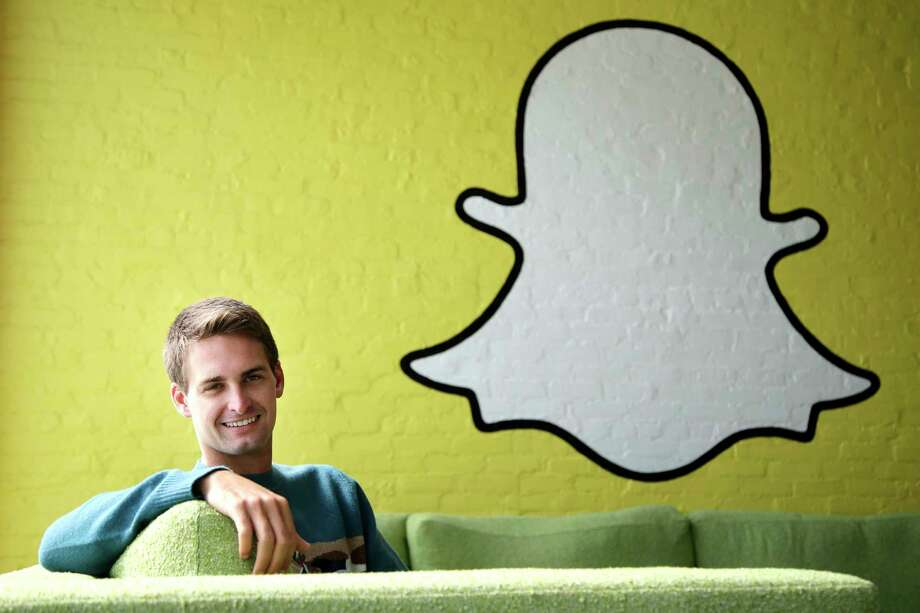 """""""While blurring the lines between professional content creators and your friends has been an interesting internet experiment, it has also produced some strange side effects (like fake news),"""" Snap CEO Evan Spiegel says. Photo: Jae C. Hong, STF / Associated Press"""