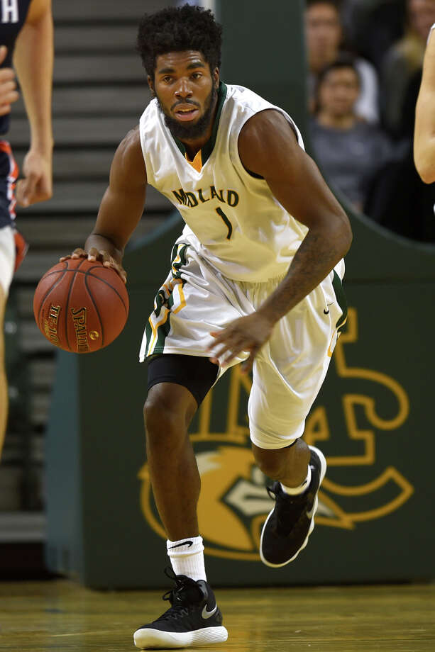 Midland College's Marquell Fraser (1) dribbles down the court against South Plains College on Nov. 29, 2017, at Chaparral Center. James Durbin/Reporter-Telegram Photo: James Durbin