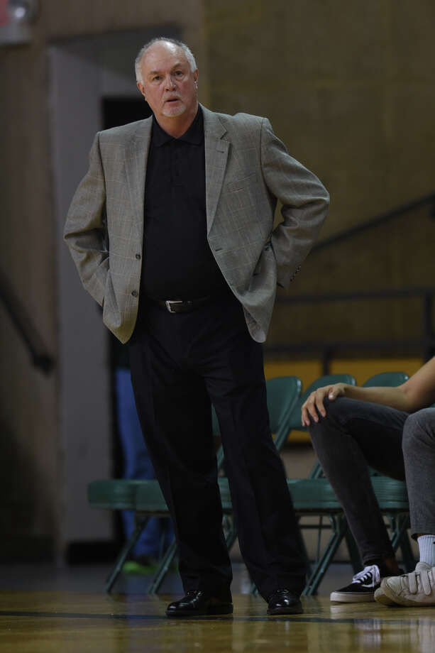 Midland College men's basketball head coach Pat Rafferty looks on during the game against South Plains College on Nov. 29, 2017, at Chaparral Center. James Durbin/Reporter-Telegram Photo: James Durbin