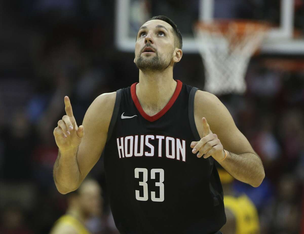 Houston Rockets forward Ryan Anderson (33) celebreates a three-pointer during the fourth quarter of a NBA game at Toyota Center on Wednesday, Nov. 29, 2017, in Houston. The Houston Rockets defeated the Indiana Pacers 118-97. ( Yi-Chin Lee / Houston Chronicle )