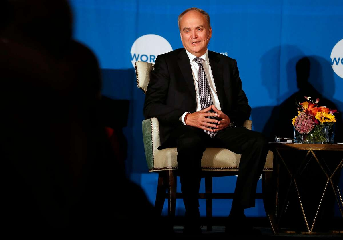 Anatoly Antonov, Russian Ambassador to the United States, speaks to the World Affairs Council in San Francisco, Calif., on Wednesday, November 29, 2017.