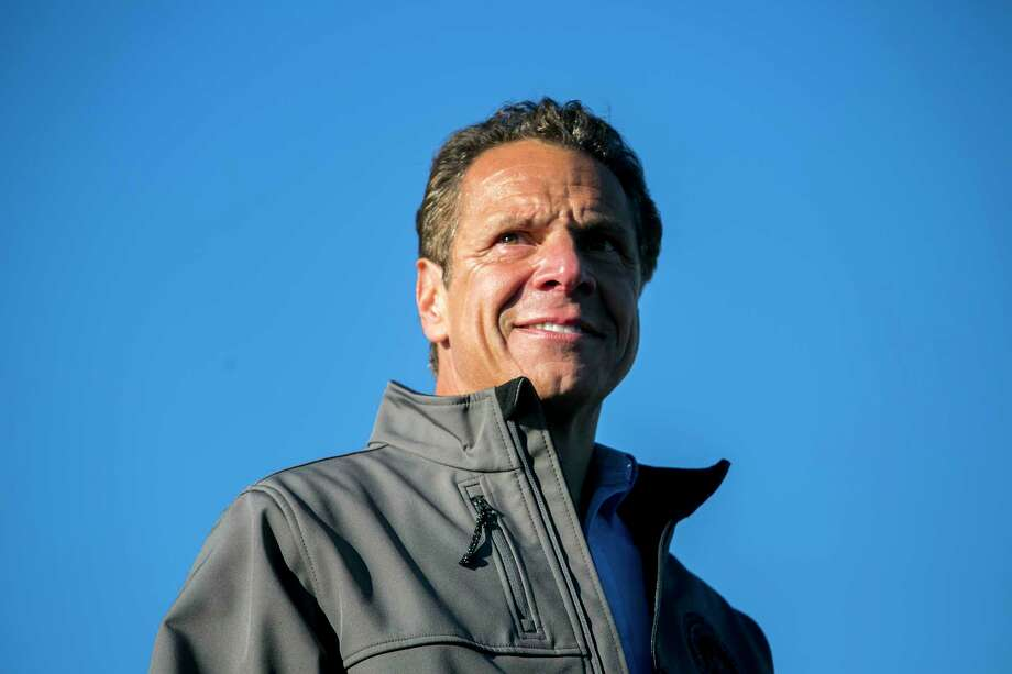 FILE — Gov. Andrew Cuomo of New York speaks to reporters, Oct. 1, 2017. Cuomo is throwing a big fundraiser to celebrate his 60th birthday and he is enlisting Bill Clinton and Jon Bon Jovi to help him bring in campaign money for his 2018 re-election. (Sam Hodgson/The New York Times)  ORG XMIT: XNYT124 Photo: SAM HODGSON / NYTNS