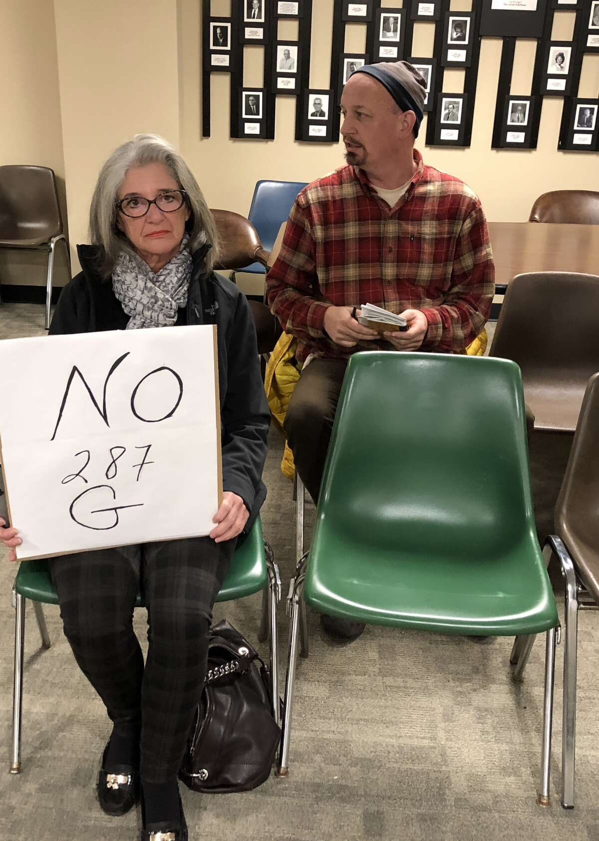 Rensselaer County residents attend a meeting a public hearing to speak out against Sheriff Patrick Russo's ICE 287(g) application on Tuesday, Nov. 28, 2017,