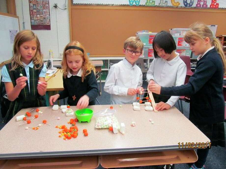 Students at Blessed Sacrament School recently participated in a Fall STEM Day.