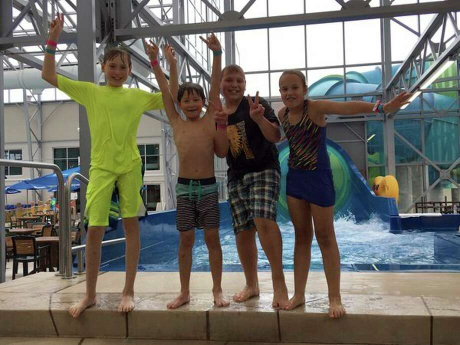 5th grade students from North Huron Elementary recently took a trip to Splash Village and enjoyed an afternoon of fun at the water park. (Submitted photo)