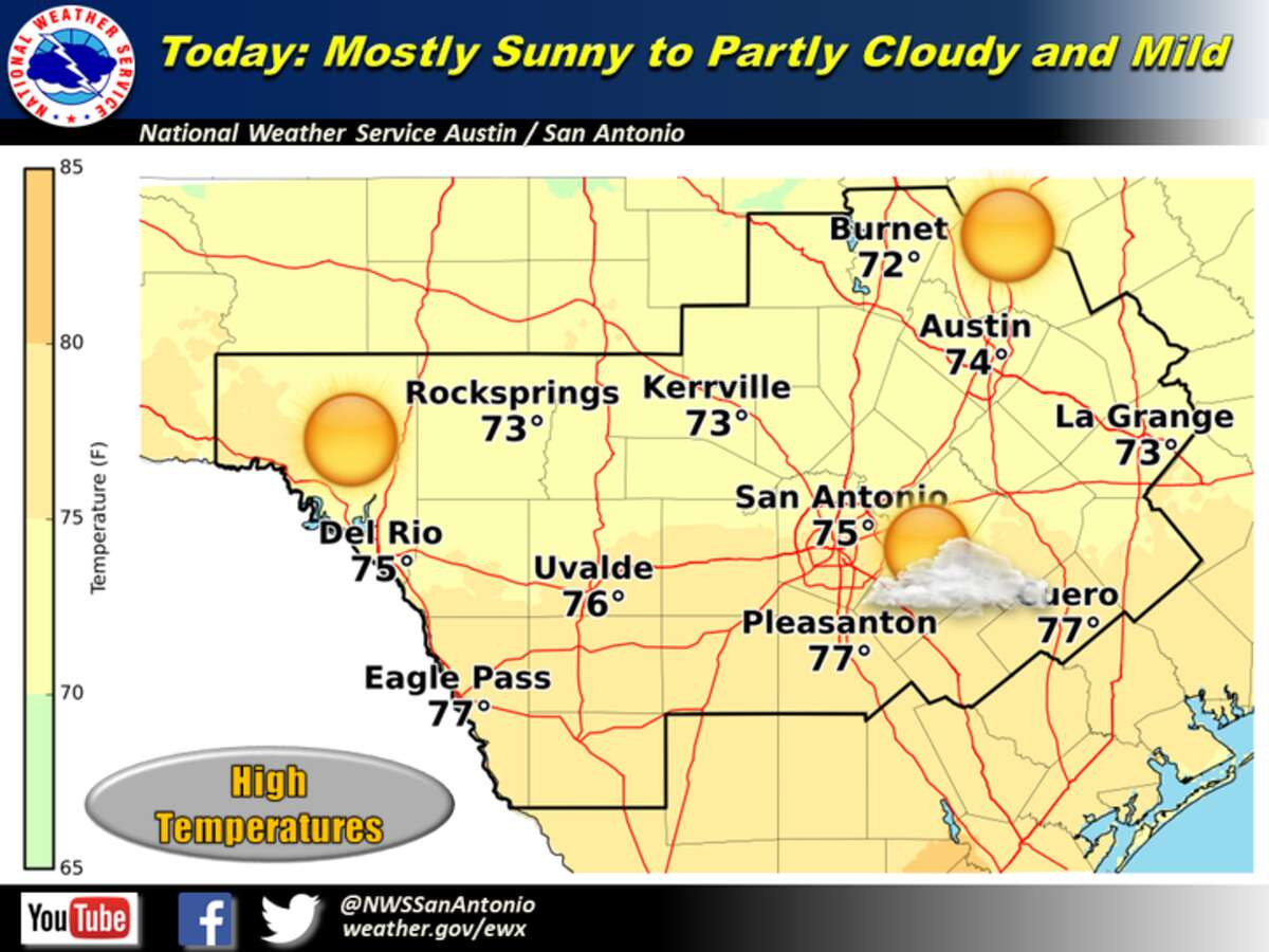 Warm weather and sunny skies are expected to continue through the weekend, until a slight chance of rain hits on Sunday.