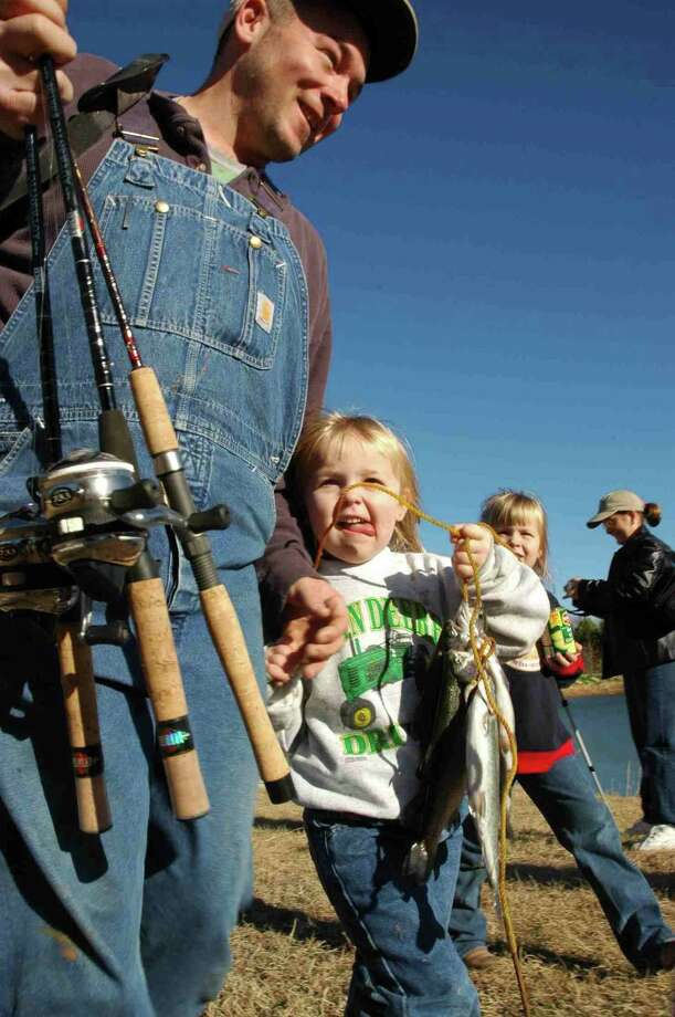 The Neighborhood Fishin' program which includes lakes at Miller's Pond and Southside Lions parks is an easy way to introduce youngsters to angling with rainbow trout that are fun to catch and good to eat. Photo: TPWD /Courtesy Photo