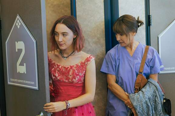 """Lady Bird"" (starring Saorise Ronan, left, and Laurie Metcalf, right) holds a 100-percent positive score on Rotten Tomatoes - with 165 reviews counted. That's a record. Photo courtesy A24."