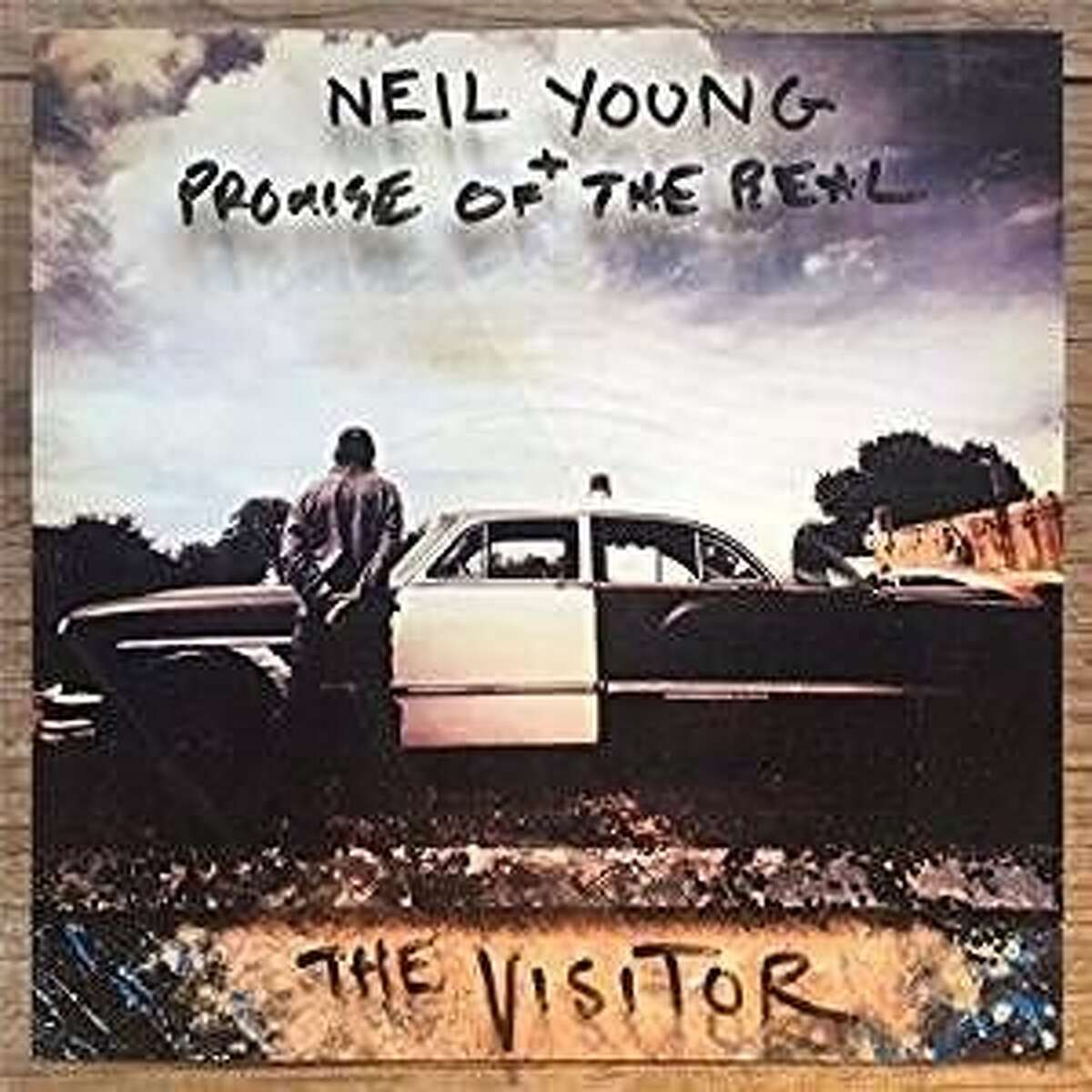 """CD cover: """"The Visitor"""" by Neil Young & the Promise of the Real"""