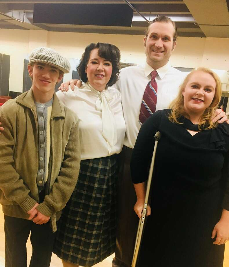 Maija Johnson-Hornegets to share the stage with her husband, Jonathan Horne, and her teenage children, Cassidy and Cade Horton. Photo: COURTESY PHOTO