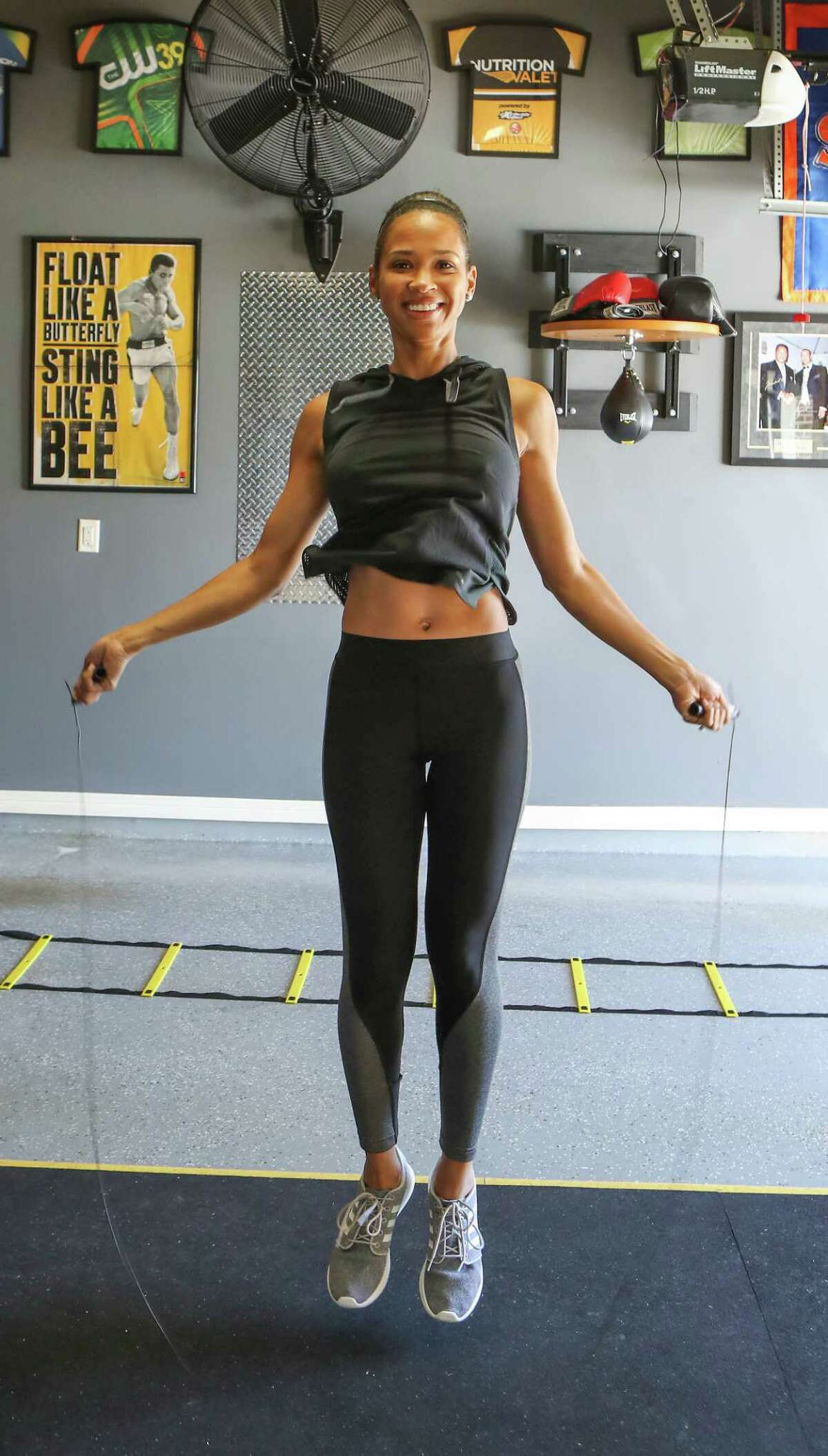 KHOU 11 Anchor Mia Gradney decided to turn her garage into a gym. She has a weight bench, a spin bike and other equipment. Read her story.