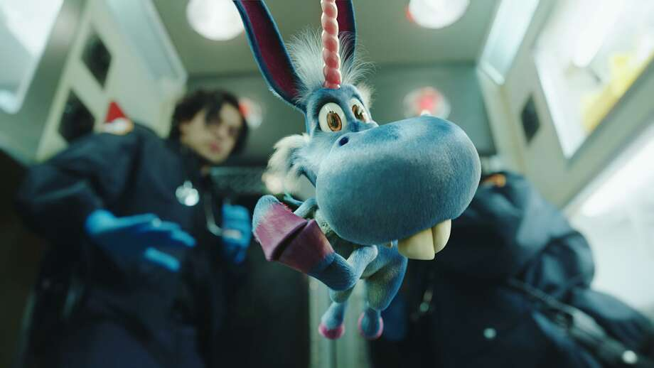 Happy, the title character in a new SyFy series, is voiced by Patton Oswald. Photo: Syfy / SyFy / 2017 Syfy Media, LLC