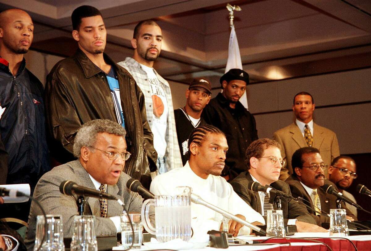 THEN: Sprewell's agent Arn Tellem Tellem (third from right, bottom row) was serving as Sprewell's agent during the assault, and he was no slouch. For years, he was considered one of the top agents in all of sports, negotiating deals for clients like Chase Utley, Yu Darvish, Kobe Bryant and Baron Davis.