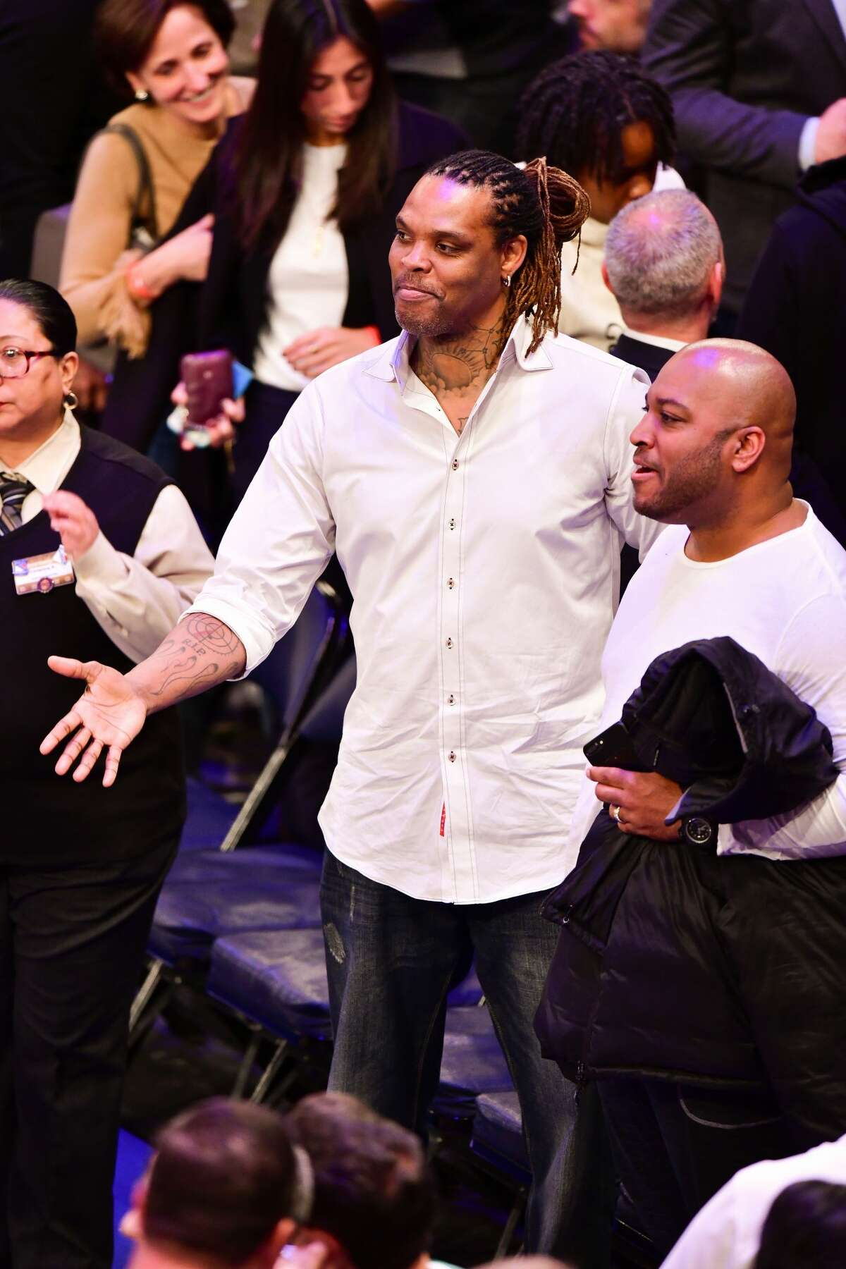 NOW: Latrell Sprewell's back in the public eye ... in New York After years of going low-profile, Sprewell's becoming a fixture at Knicks games in New York. Here he is on Nov. 13 at the Cavs-Knicks game.