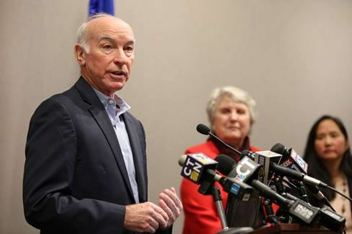 U.S. Rep. Joe Courtney last week in Hartford announcing the IRS guidance