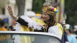 San Antonio's first poet laureate Carmen Tafolla was grand marshal of the King William Fair Parade in 2013.