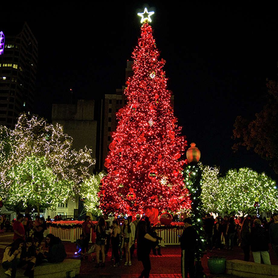 """Click through the slideshow to see photos from the mayor's 2017 """"Light It Up Downtown"""" holiday contest, in which various buildings, businesses, parks and areas around San Antonio illuminated with lights. Photo: Courtesy/City Of San Antonio"""