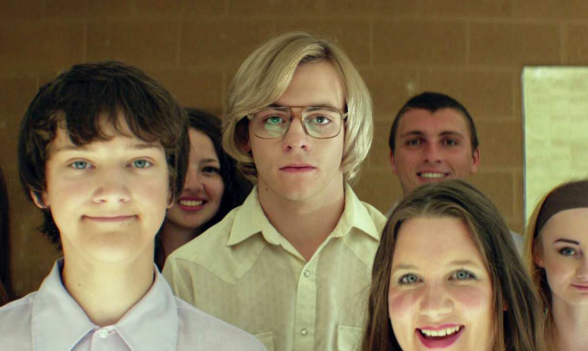 "Ross Lynch, center, as Jeffrey Dahmer in a scene from Marc Meyers' ""My Friend Dahmer."" MUST CREDIT: FilmRise"