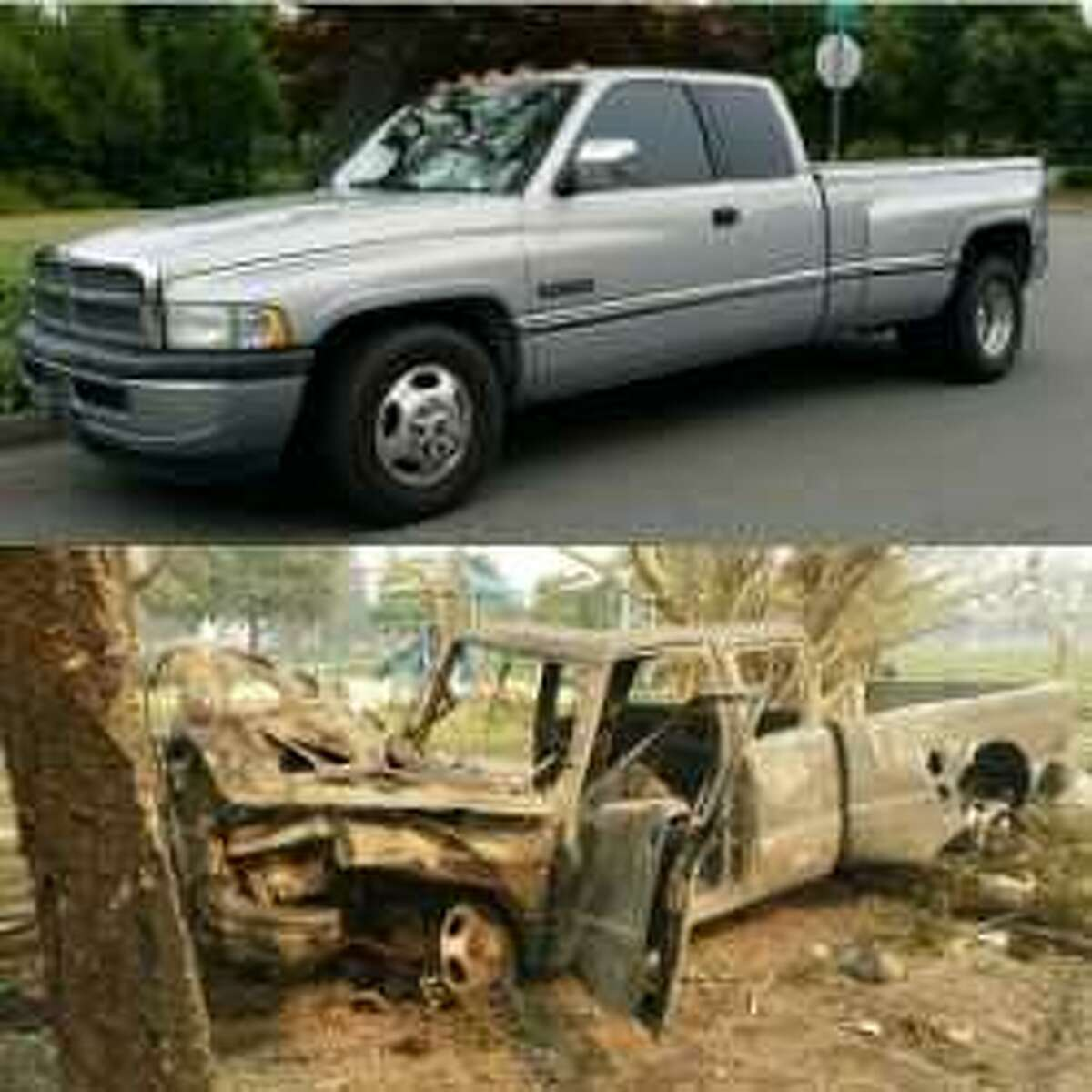 Scott Birdsall's 1997 Dodge D3500 Diesel was used for towing before it was destroyed in the Tubbs Fire, which tore through his Coffey Park neighborhood in October.