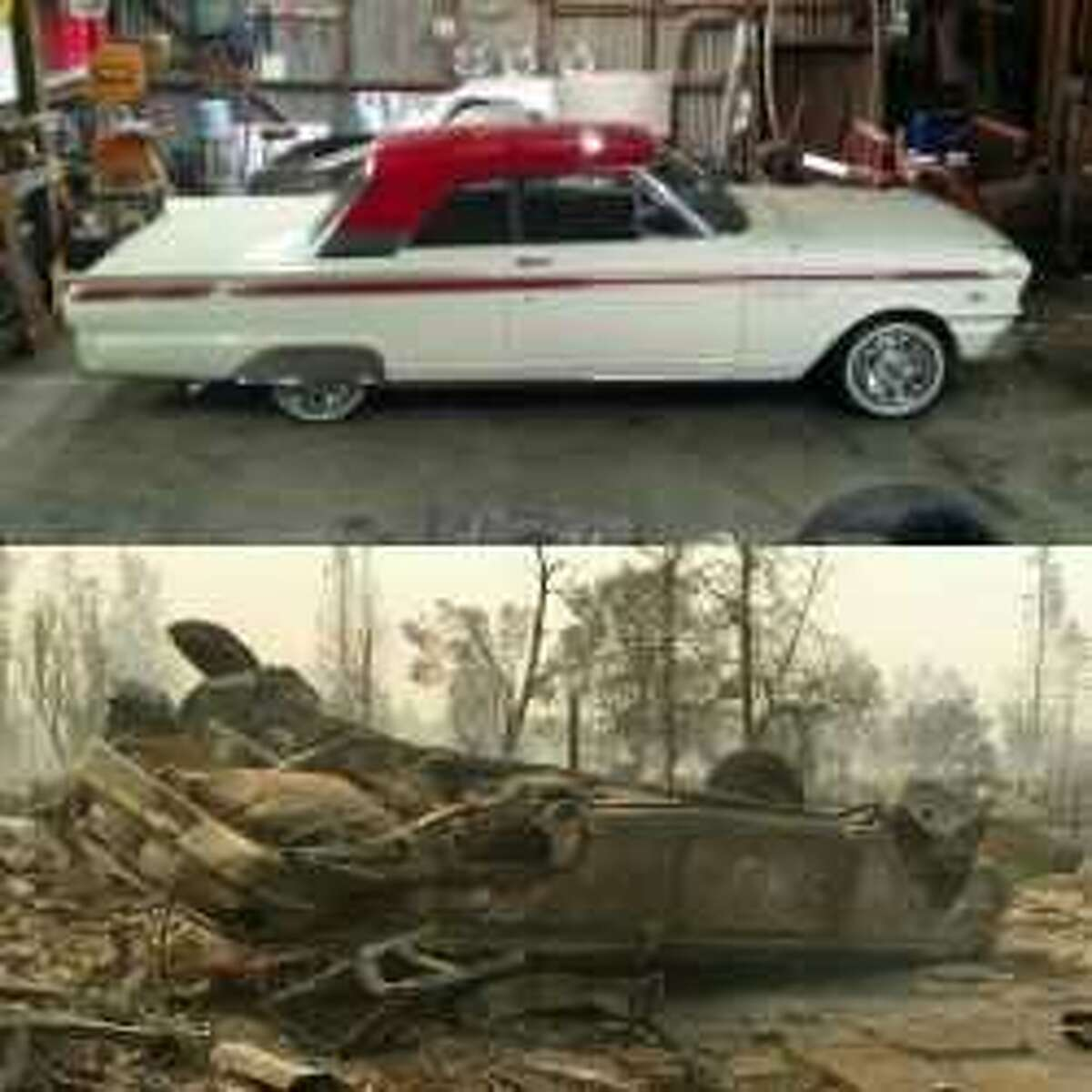 Scott Birdsall built this 1963 Fairlane hardtop for his wife following the birth of their daughter. It was destroyed by the Tubbs Fire that devastated parts of Santa Rosa.