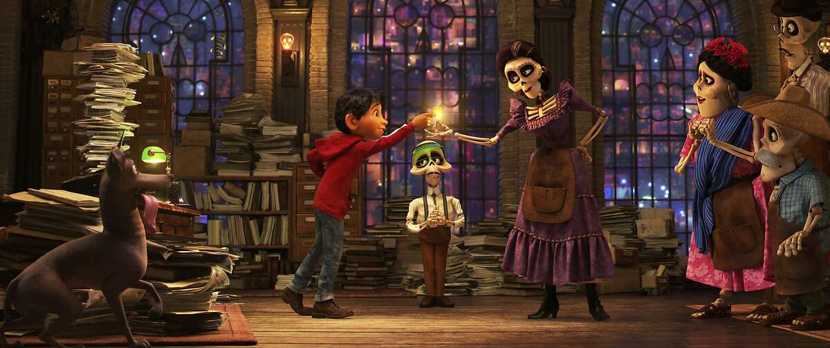 """This image released by Disney-Pixar shows a scene from the animated film, """"Coco."""" (Disney•Pixar via AP)"""
