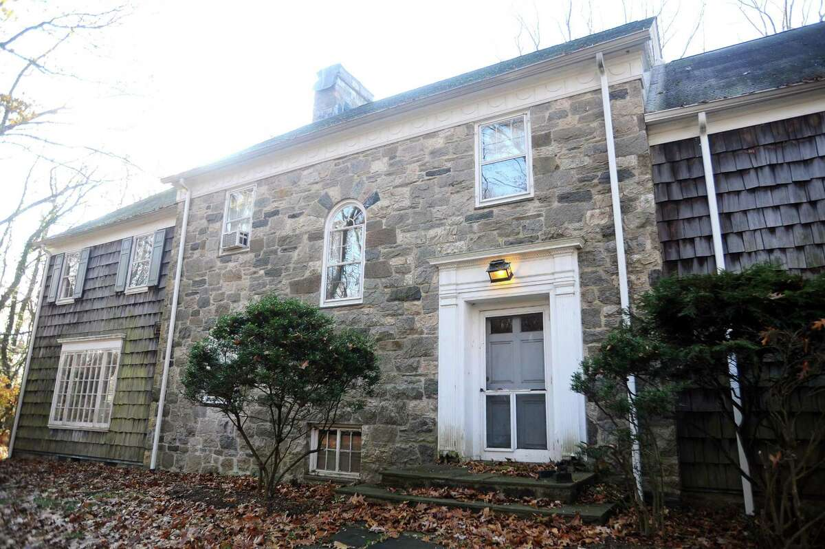The old stone, with a 25-acre property, is located on Chestnut Hill Road and is on the market. Photographed in north Stamford, Conn. on Wednesday, Nov. 29, 2017.