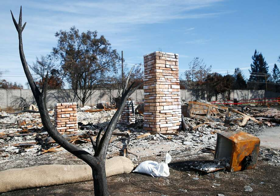 A residential lot at 280 Darbster Place, where the home was destroyed in last month's Tubbs Fire, is listed for sale in Santa Rosa. Photo: Paul Chinn, The Chronicle