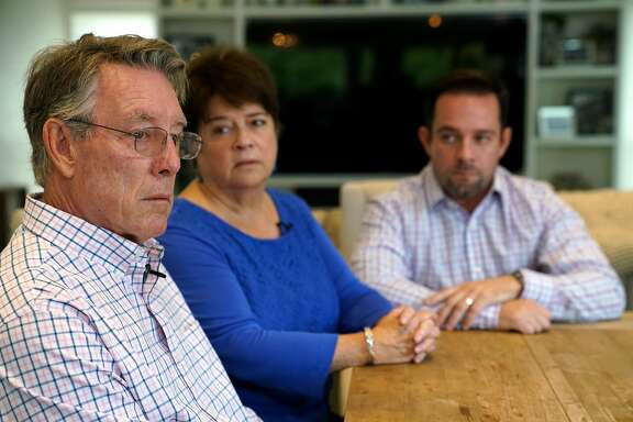 The family of Kate Steinle including her father Jim, left, mother Liz Sullivan, middle, and brother Brad, discuss the circumstances of her death and the resulting murder trial on Wednesday, November 22, 2017.