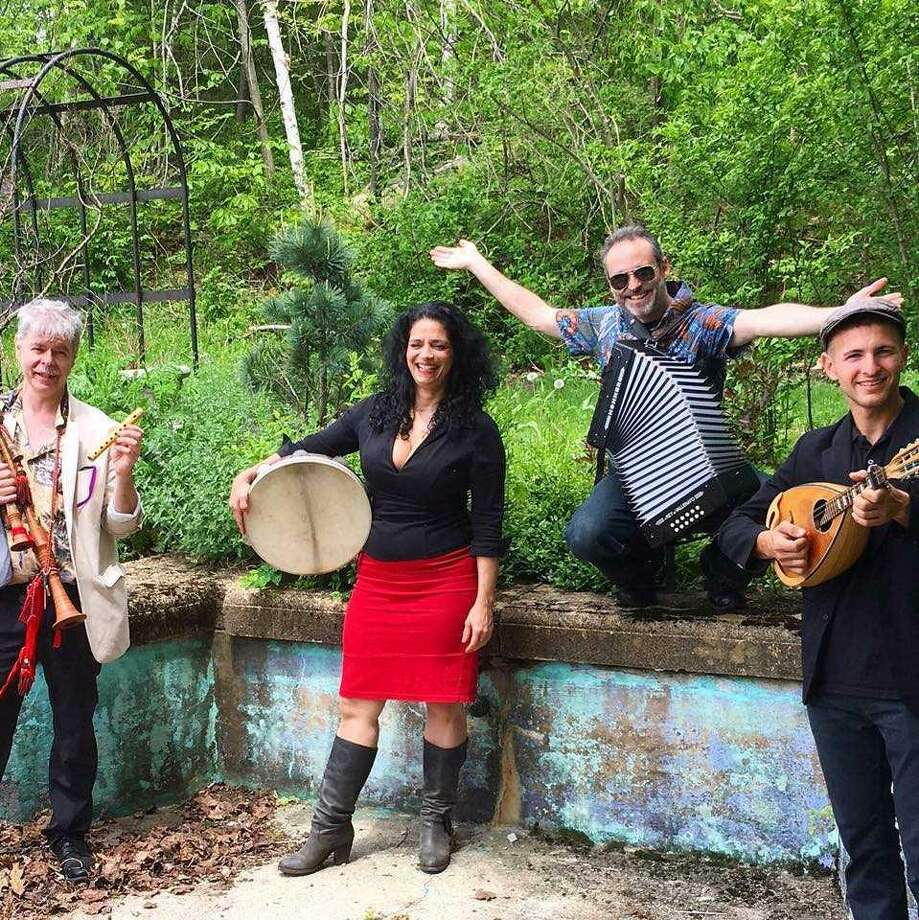 Michela Musolino and Rosa Tatuata (Rose Tattoo) bring Sicilian folk and dance music to the Branford Folk Music Society on Saturday. Photo: Courtesy Of Branford Folk Music Society