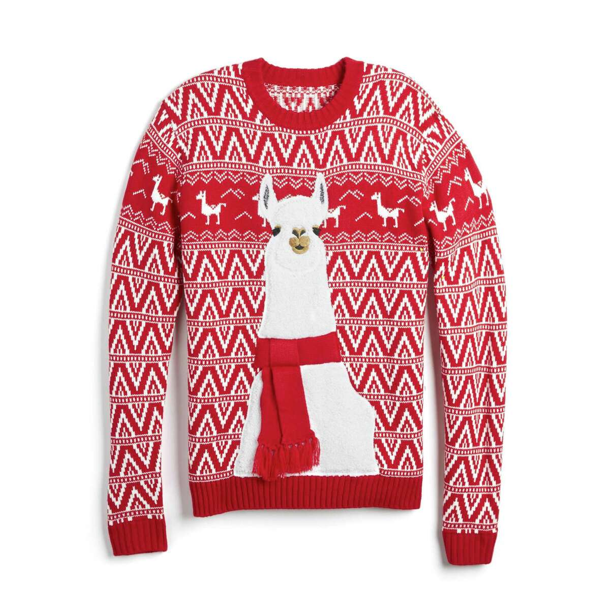 Not all are Christmas sweaters are ugly as much as they appear ironic or quirky, such as these from Kohl's.