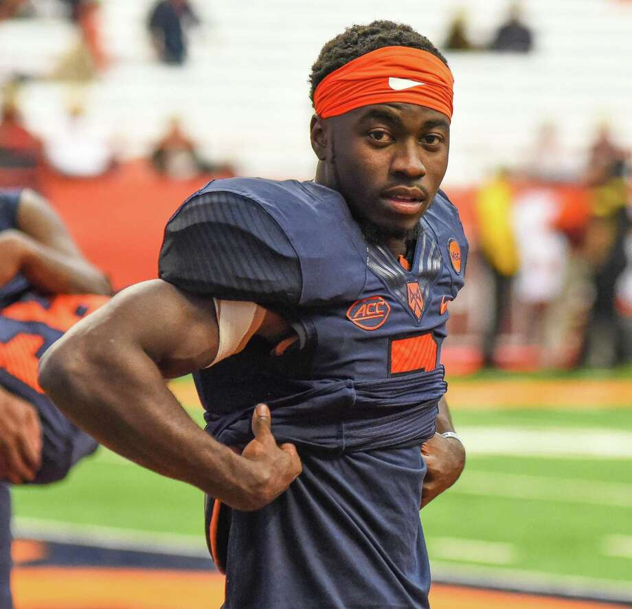 Syracuse University wide receiver Ervin Philips is a long way from his West Haven home, but wrapped up his career with the Orange in record-breaking fashion. Photo: John Nash / Hearst Media Connecticut