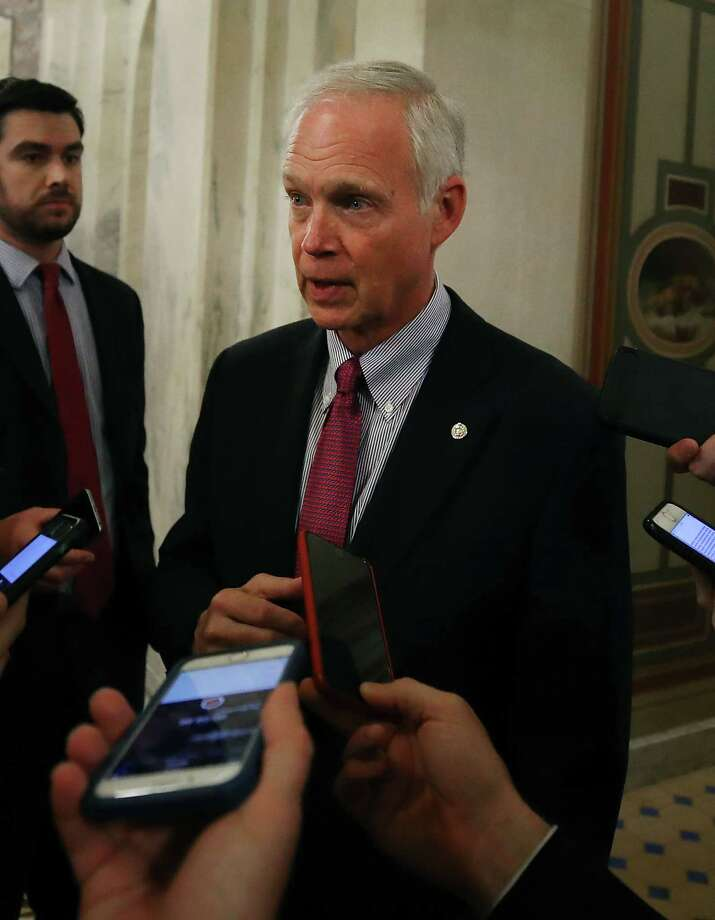 U.S. Sen. Ron Johnson (R-WI) talks to reporters after a vote in the Senate Chamber on Capitol Hill November 30, 2017 in Washington, DC. Photo: Mark Wilson, Getty / 2017 Getty Images