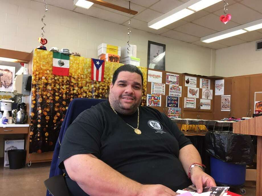 Albert Benejan, PTSO President at Bassick High School, Bridgeport Nov. 29, 2017 Photo: Linda Conner Lambeck