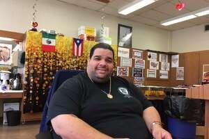 Albert Benejan, PTSO President at Bassick High School, Bridgeport Nov. 29, 2017