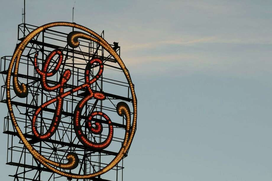 General Electric sign on Tuesday evening, Sept. 15, 2015, in Schenectady, N.Y.  (Michael P. Farrell/Times Union archive) Photo: Michael P. Farrell / 00033380A