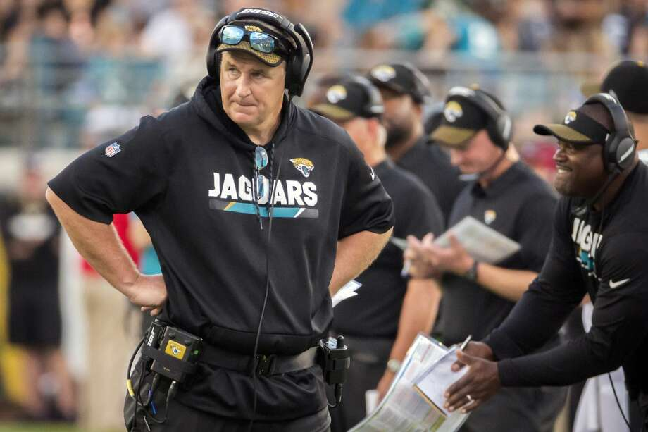 Jaguars coach Doug Marrone (right) expects the AFC South to be tougher in 2018. Photo: Stephen B. Morton/Associated Press