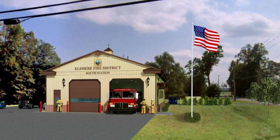 A rendering of the proposed Elsemere Fire Department South Station at the intersection of Wemple Road and Feura Bush Road Photo: Rulison, Larry