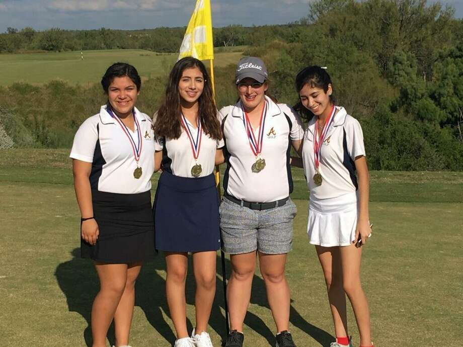 The Alexander girls' golf team won a tournament title Thursday at The MAX led by Carolina Perez who shot a 93 for first place individually. Photo: Courtesy Photo