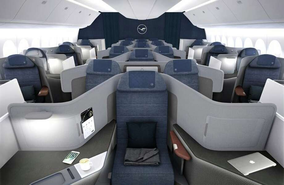 Lufthansa's new business class design includes some extra-wide single middle seats. Calling Captain Kirk! (Image: Lufthansa)